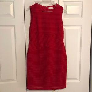 Red Calvin Klein body con dress